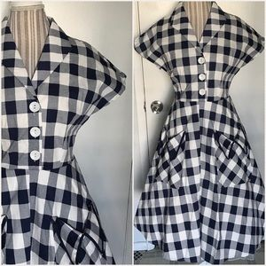 Vintage inspired plaid Dress